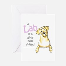 Yellow Lab BF Greeting Cards (Pk of 20)