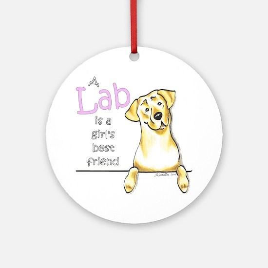 Yellow Lab BF Ornament (Round)
