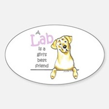 Yellow Lab BF Sticker (Oval)