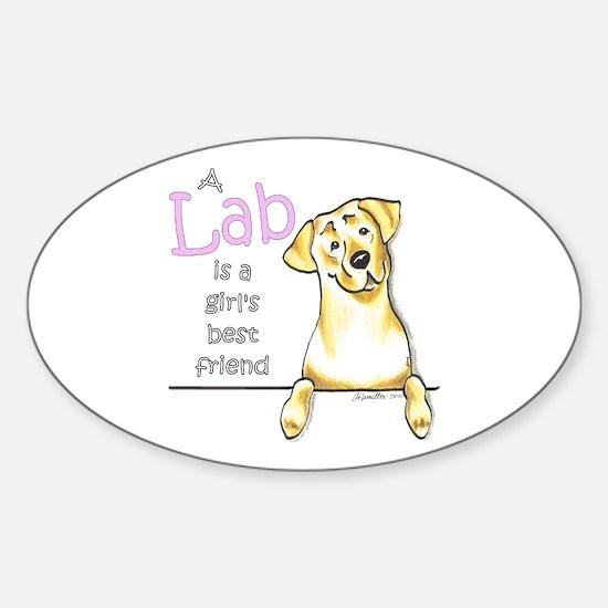 Yellow Lab BF Sticker (Oval)