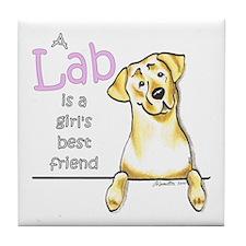 Yellow Lab BF Tile Coaster