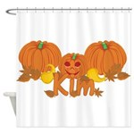 Halloween Pumpkin Kim Shower Curtain