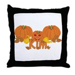 Halloween Pumpkin Kim Throw Pillow