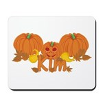 Halloween Pumpkin Kim Mousepad