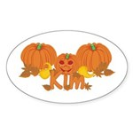 Halloween Pumpkin Kim Sticker (Oval)