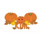 Halloween Pumpkin Kim 35x21 Wall Decal