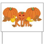 Halloween Pumpkin Kim Yard Sign