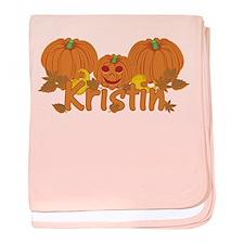 Halloween Pumpkin Kristin baby blanket