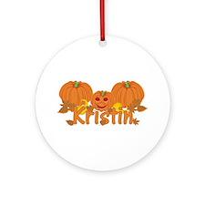 Halloween Pumpkin Kristin Ornament (Round)