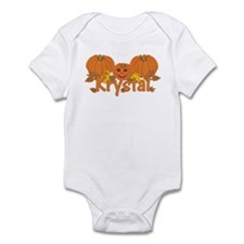 Halloween Pumpkin Krystal Infant Bodysuit