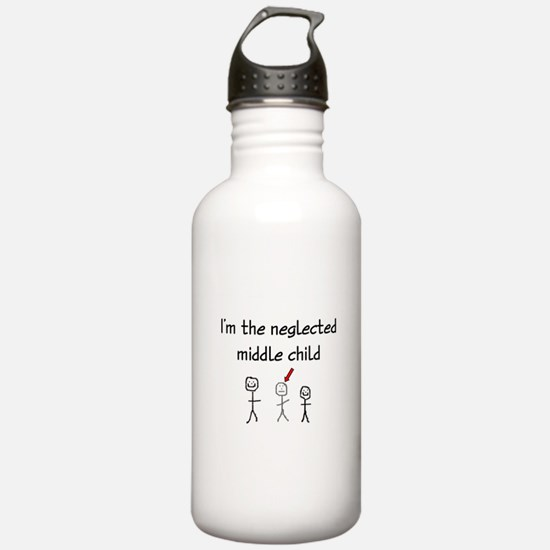 I'm the neglected middle child Water Bottle