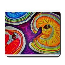 Circles on the Ground Mousepad