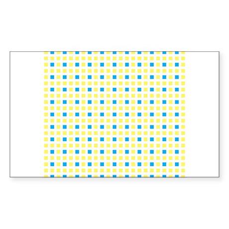 plaid city Sticker (Rectangle)