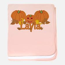 Halloween Pumpkin Layla baby blanket