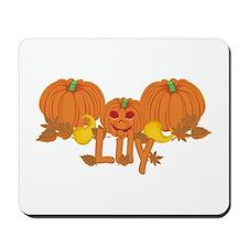 Halloween Pumpkin Lily Mousepad