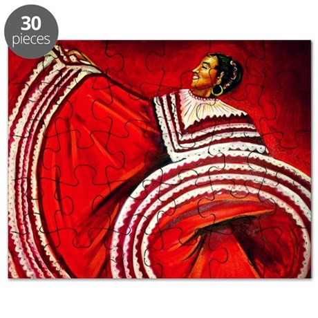 Woman in Red Dress Puzzle