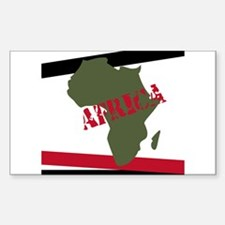 Militant Africa Rectangle Decal