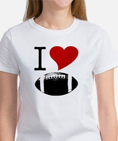 I Heart Football Women's T-Shirt