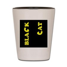 Black Cat (yellow) Shot Glass