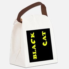 Black Cat (yellow) Canvas Lunch Bag