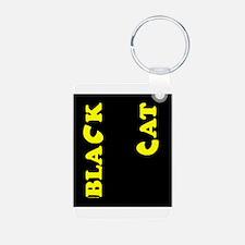 Black Cat (yellow) Keychains