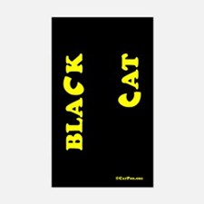 Black Cat (yellow) Decal