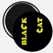Black Cat (yellow) Magnet