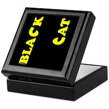 Black Cat (yellow) Keepsake Box