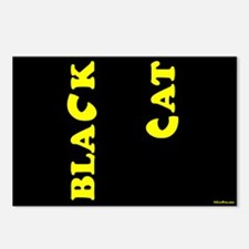 Black Cat (yellow) Postcards (Package of 8)