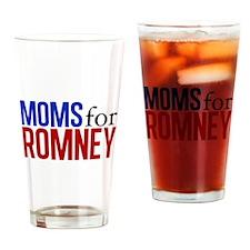 Moms for Romney Drinking Glass