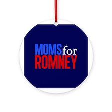 Moms for Romney Ornament (Round)