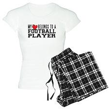 Heart Belongs to Football Women's Pajamas
