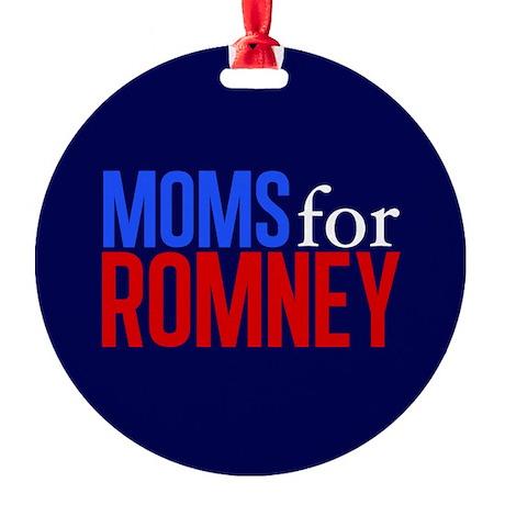 Moms for Romney Round Ornament