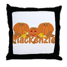 Halloween Pumpkin Mackenzie Throw Pillow