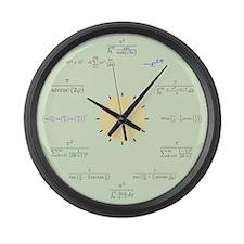 Math Large Wall Clock