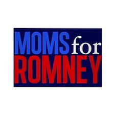 Moms for Romney Rectangle Magnet