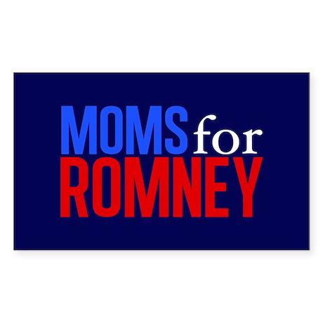 Moms for Romney Sticker (Rectangle)