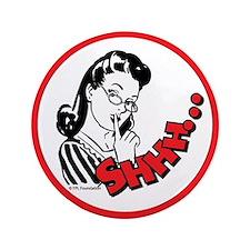 """Shhh...Librarian 3.5"""" Button"""