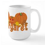 Halloween Pumpkin Margaret Large Mug