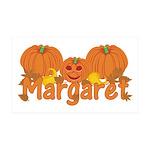 Halloween Pumpkin Margaret 35x21 Wall Decal