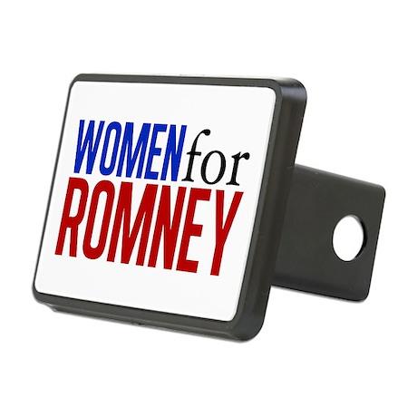 Women for Romney Rectangular Hitch Cover
