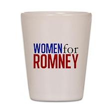 Women for Romney Shot Glass