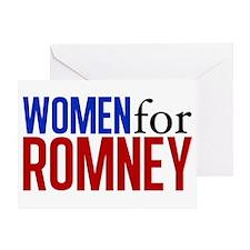 Women for Romney Greeting Card