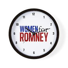 Women for Romney Wall Clock