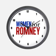 Women for Romney Wall Clock