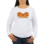 Halloween Pumpkin Mariah Women's Long Sleeve T-Shi