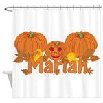 Halloween Pumpkin Mariah Shower Curtain