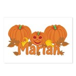 Halloween Pumpkin Mariah Postcards (Package of 8)