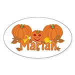 Halloween Pumpkin Mariah Sticker (Oval)
