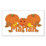 Halloween Pumpkin Mariah Sticker (Rectangle)